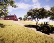 Real Farm_Screenshot_Driving to Barn