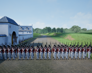 A_battalion_of_red_coats_in_front_of_La_Haye_Sainte1
